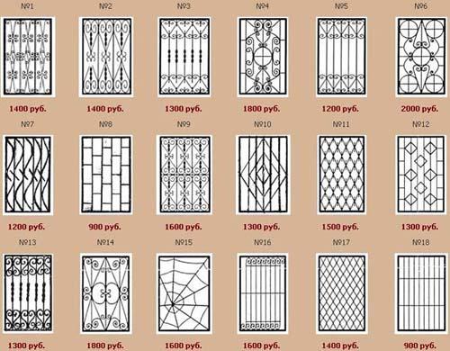 Решетки на окна на даче своими руками